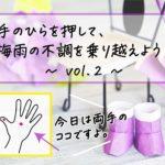 【気象病対策・手のひらですぐにできること】梅雨の不調を乗り越える vol.2